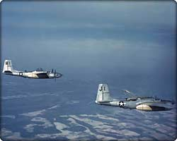 Two A-26B Invaders in flight