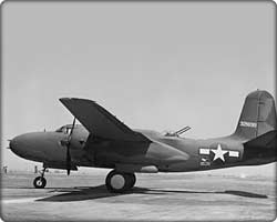 A-20 Havoc medium attack bomber on runway