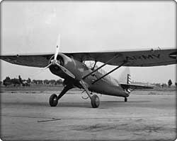 O-46A observation monoplane on runway