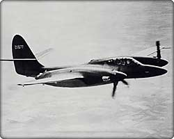 XP-67 prototype fighter in flight