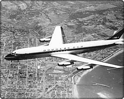 DC-8 commercial transport in flight