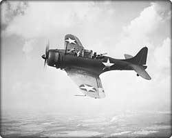 SBD Dauntless dive bomber