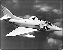 Navy A-4B Skyhawk fighter in flight