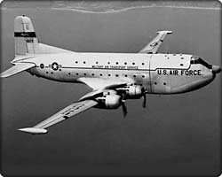 C-124 Globemaster II military transport in flight