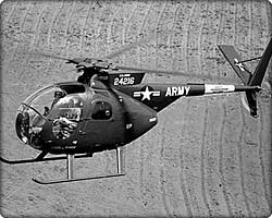 OH-6A Cayuse military helicopter