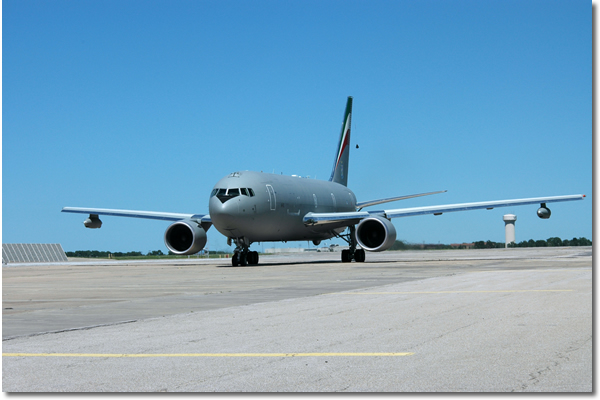 KC-767A on runway