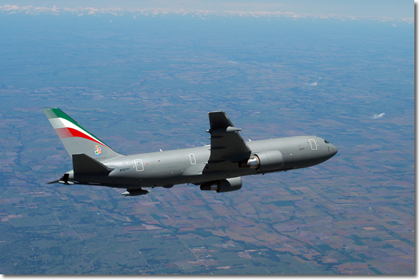 KC-767A in flight
