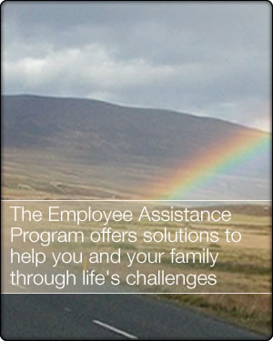 The Employee Assistance Program offers solutions to help your family through life's challenges
