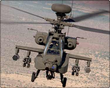 AH-64D Apache in flight (Neg#: DVD-1098-2)