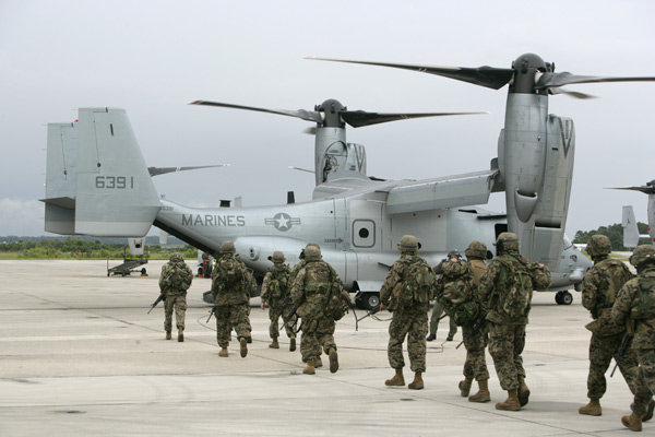 The U.S. Marine Corps MV-22 Osprey