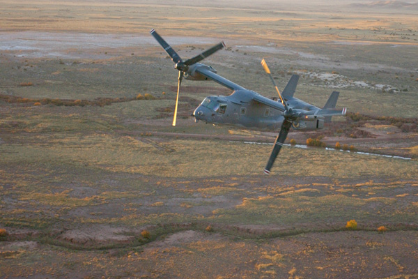 CV-22 flight operations near Kirtland Air Force Base, New Mexico.