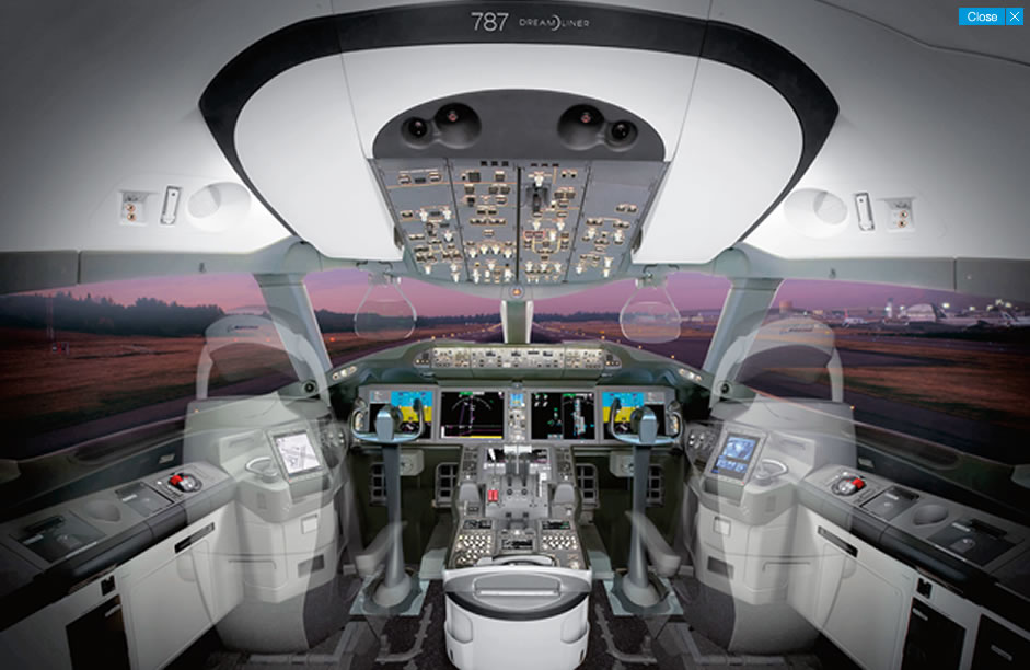 Innovative 787 Flight Deck Designed For Efficiency Comfort And Commonality