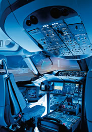 787 flight deck designed for efficiency comfort and commonality to help pilots work more efficiently and safely while maintaining significant operational commonality previous generations of boeing airplanes