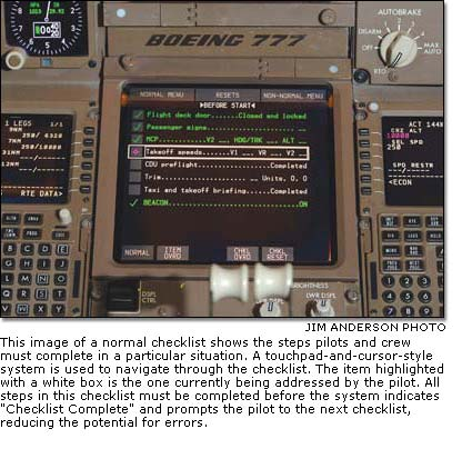 A Normal Checklist Showing The Steps Pilots And Crew Must Complete In Particular Situation