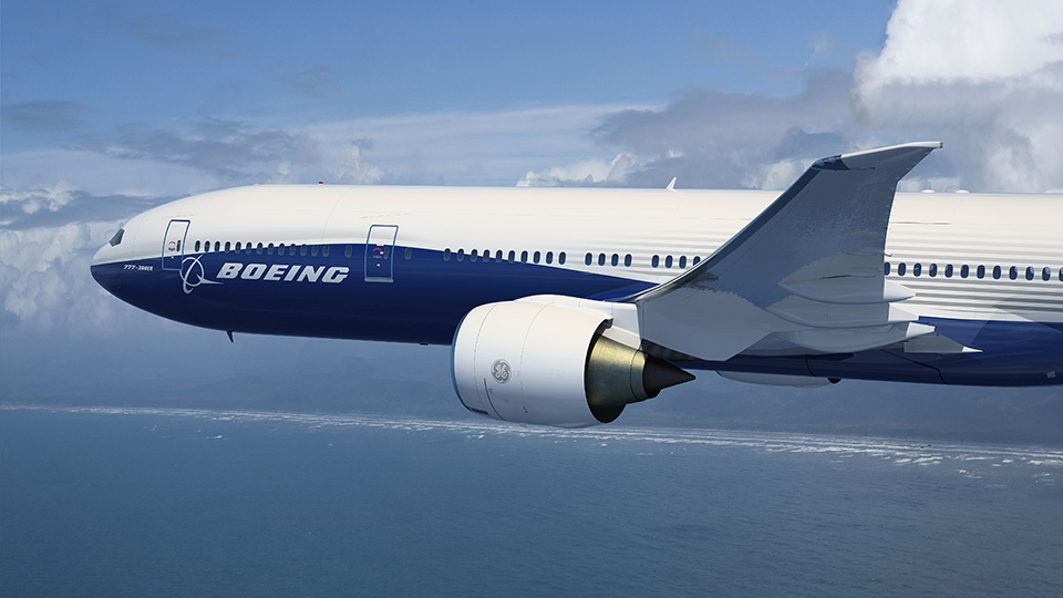 Boeing 777X. Boeing's view of the wide-body market has shifted. Once it thought a strong market through 2020. Now it sees recovery in demand from 2020. Boeing photo via Google images.