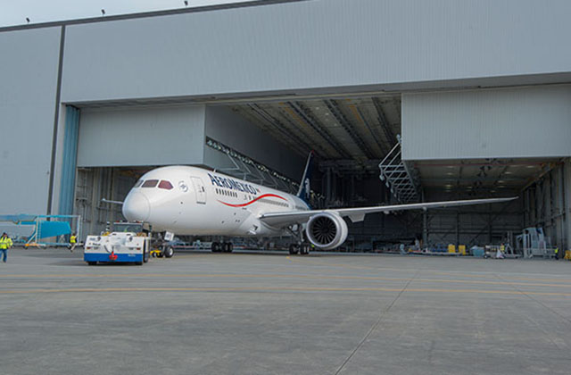 Boeing aeromexico celebrates its first delivery of the for Interior 787 aeromexico