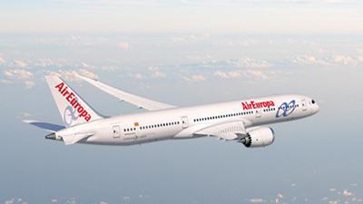 Boeing air europa for Interior 787 air europa