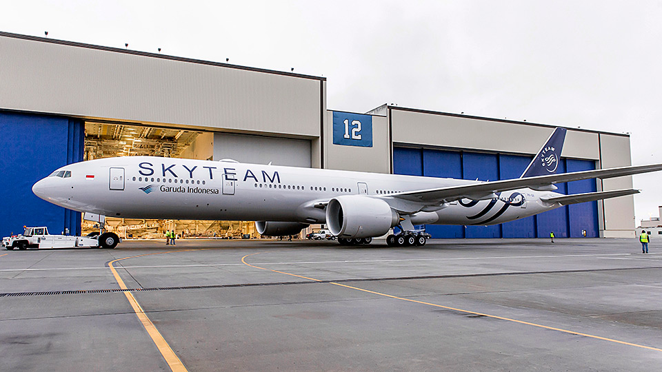 Garuda Indonesia Skyteam livery | boeing.com