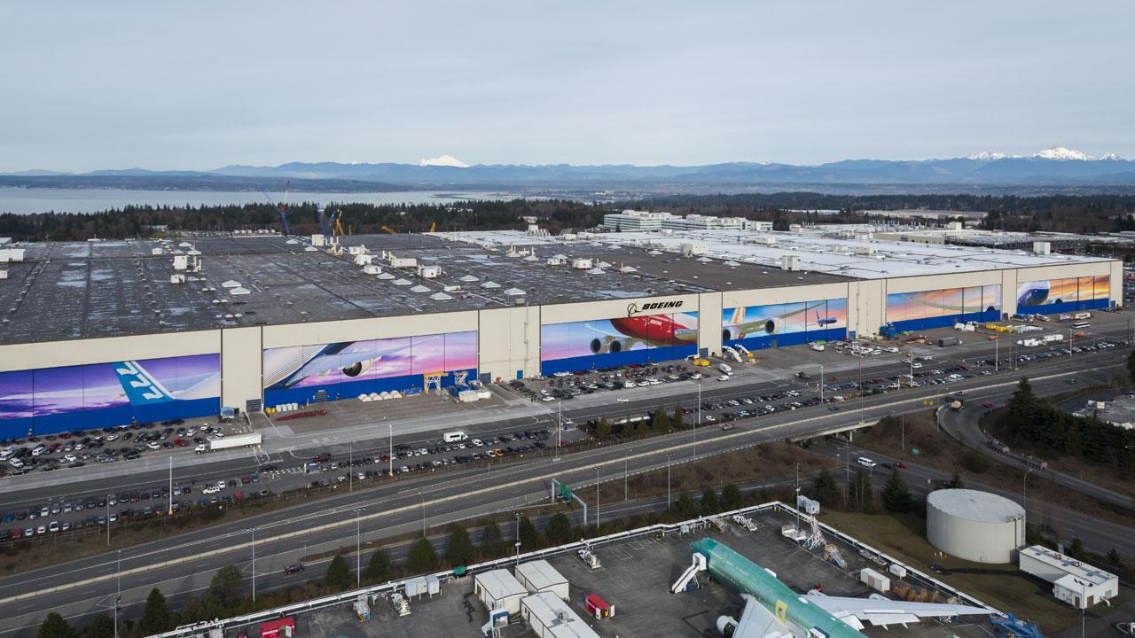 Boeing Boeing In Everett Wash
