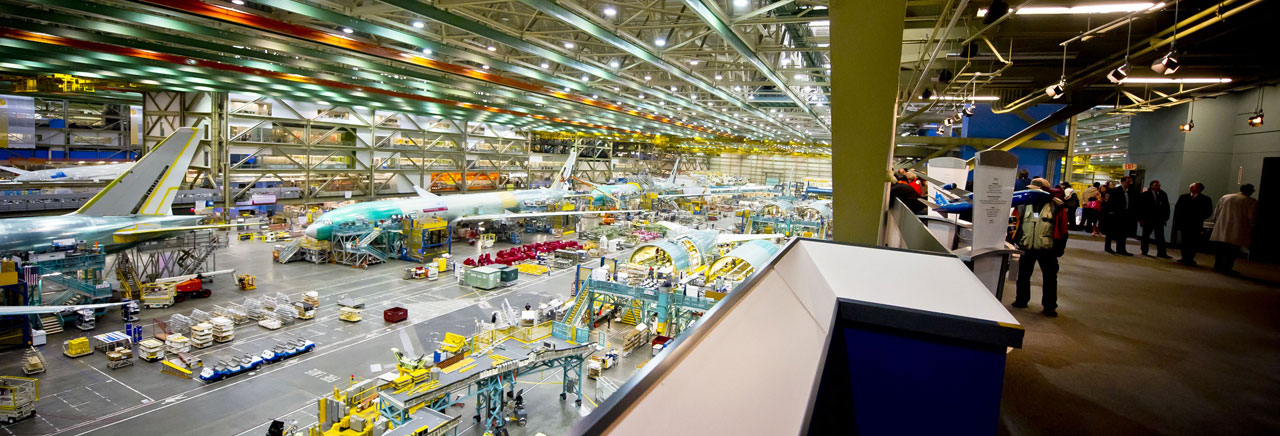 Boeing factory floor