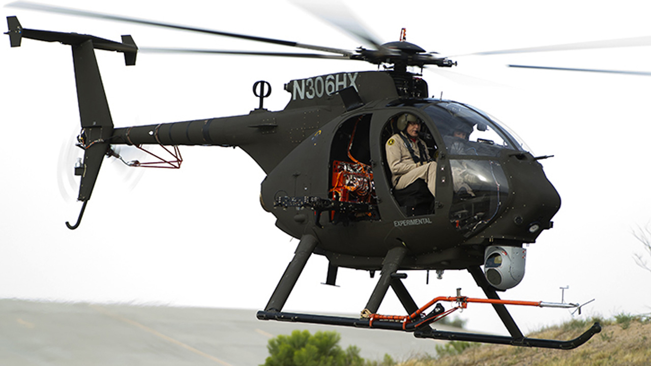 Ah 6 light attack reconnaissance helicopter