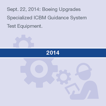 Sept. 22, 2014: Boeing Upgrades Specialized ICBM Guidance System Test Equipment.