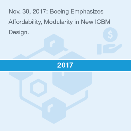 Nov. 30, 2017: Boeing Emphasizes Affordability, Modularity in New ICBM Design.