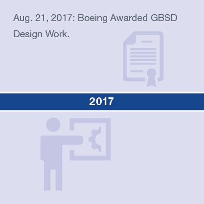 Aug. 21, 2017: Boeing Awarded GBSD Design Work.