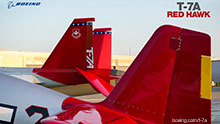 Wallpaper picture of T7A Red Hawk tails