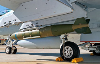 JDAM on wing