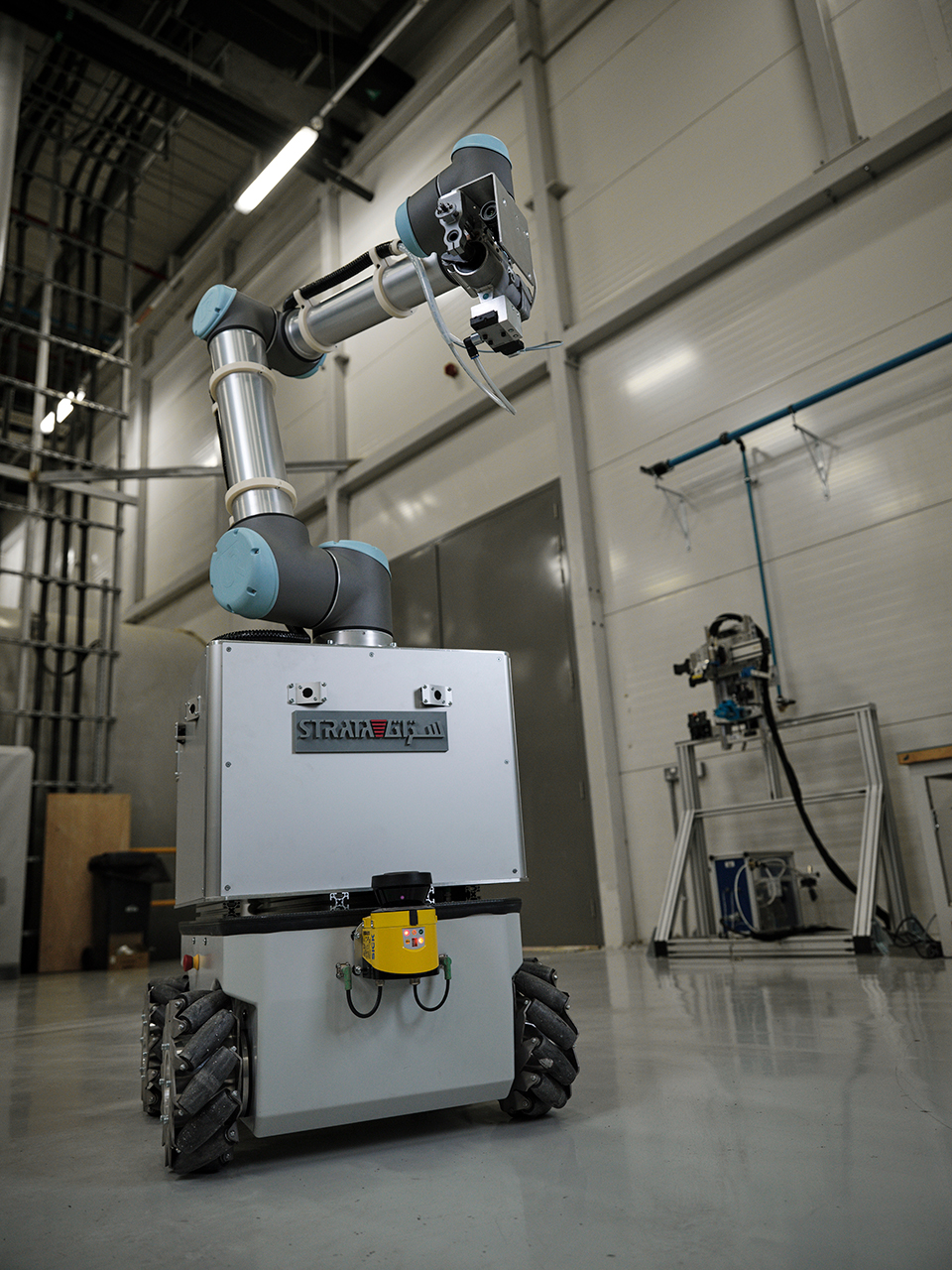 fully developed, the robot head, called an end-effector