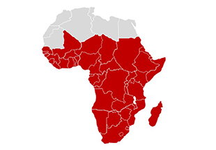 Boeing africa map of african continent with south african countries highlighted gumiabroncs Choice Image
