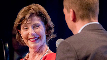 First Lady Laura Bush.