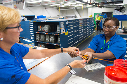 Boeings South Carolina site use a one-for-one exchange program